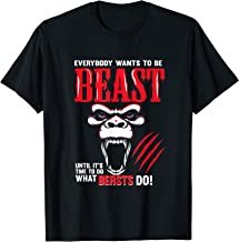 Mens Angry Gorilla Silverback Gym Addict Beast Workout Gift Shirt