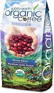 2LB Cafe Don Pablo Subtle Earth Organic Gourmet Coffee - Medium Dark Roast - Whole Bean Coffee - USDA Organic Certified Arabica Coffee by CCOF - (2 lb) Bag