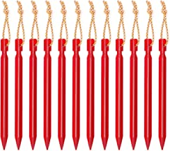 Vancool 7 inch Outdoors Aluminum Alloy Triangle Tent Stakes, 12PCS Tent Pegs