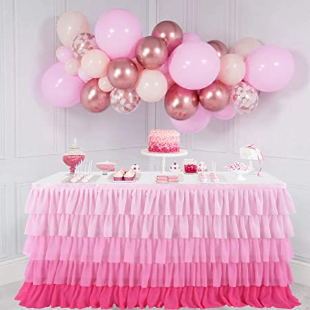 Pink /& White Stripe Linen Table RunnerLinen Baby Shower Christening Birthday Party Material 5 Meters