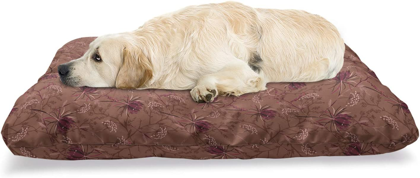 Ambesonne Botanical Pet Bed Romantic Element Garden 35% OFF New popularity Retro Style