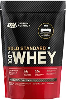 Optimum Nutrition (ON) Gold Standard 100% Whey Protein Powder - 1 lb (Double Rich Chocolate), Primary Source Isolate