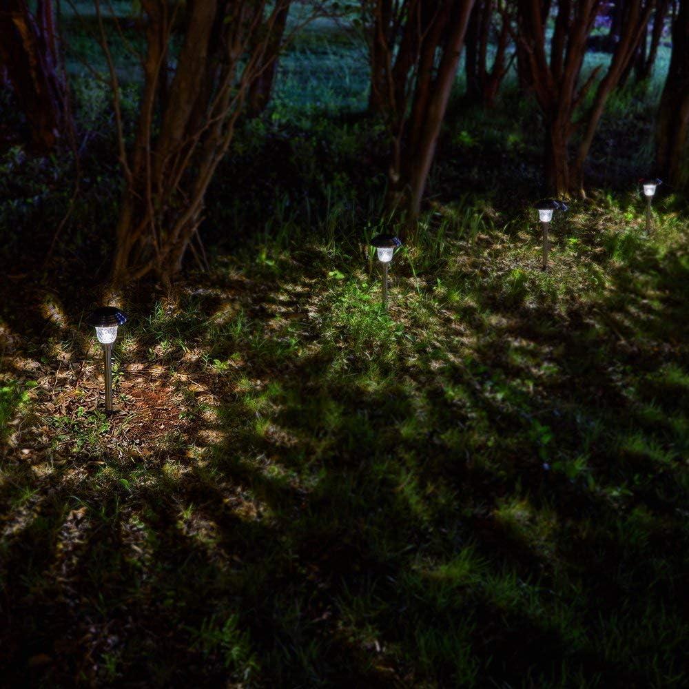 BEAU JARDIN 4 Solarleuchte Garten LED Outdoor Leuchten Garten Solar wasserdichte Strahler Leuchten f/ür Terrasse Auffahrt Deck Hof Auffahrt Hochzeit LED Beleuchtung Dekoration