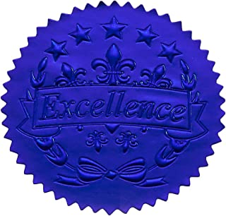 96 张*励贴纸 - 蓝色证书印章,*的星级贴纸