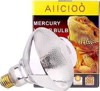 UVA UVB Mercury Vapor Bulb - 100W Sun Simulating Bulb High Intensity UVA UVB Light Heat Bulb for Reptile and Amphibian Use (Mercury Vapor Bulb)