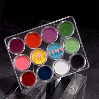 Water Activated Eyeliner 12 Colors UV Glow Neon Cake Paint Longlasting Luminous Body Face Makeup Paint for Costume Hallowe...