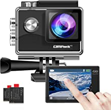 Campark 4K WiFi Action Camera Touch Screen, Web Cam,PC Camera 170° Wide Angle EIS Stabilization 30M Underwater 2 Batteries...