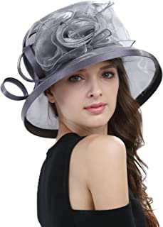 Janey&Rubbins Women's Kentucky Derby Racing Horse Organza Hat Church Wedding Dress Party Occasion Cap