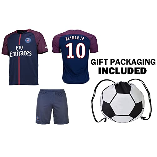 400a610288e Fan Kitbag Neymar Jr #10 PSG Soccer Jersey & Shorts Paris Saint Germain  Youth Kids