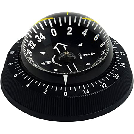 RIVIERA Kompass Comet 1 Aufbau in schwarz Schiffkompass Marine Bootkompass Rose
