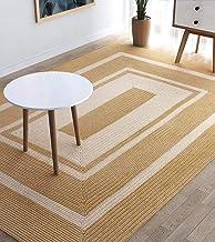 Z-DJJ 100% Jute Fiber Rug, Hand-Woven Modern Jute Rug, Natural Fiber Brown and Beige High Strength Carpet for Bedroom Livi...