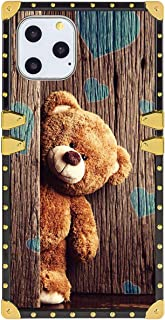 Bonoma Teddy Bear Square Edge Cell Phone Case for Apple iPhone 11 Pro Max (6.5 Version)