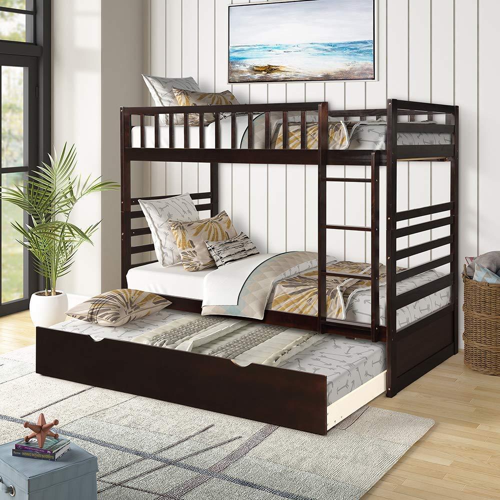 Trundle Wooden Safety Bedroom Furniture
