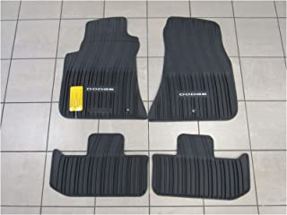 Dodge сhaIIenger rWd bIaсk aII-Weather styIe Rubber FIoor mats /82212545Ab