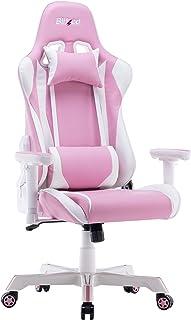 كرسي الألعاب BLITZZ، مسند خلفي قابل للتعديل من الجلد الصناعي مع مسند أمامي قابل للتعديل (udget Bonsia_Pink)