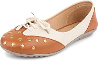 YAHE Women's Casual Faux Leather Flat Sport Type Cum Official Belly Shoe Y-37