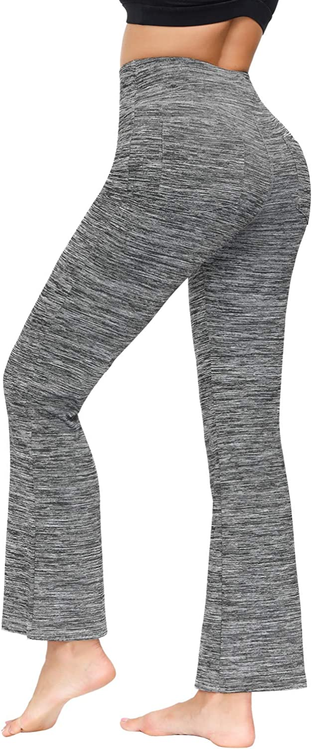 Zexxxy Womens Yoga Pants with Inner Pockets High Waist Workout Pants Running Pants