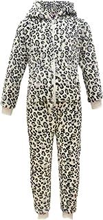 Kids Boys Girls Soft Fluffy Animal Leopard Snow A2Z Onesie One Piece Xmas Costume 2-13 Y
