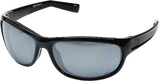 Storm (Ansi) Shiny Black/Black Frame/Gray Polarized/Silver Mirro