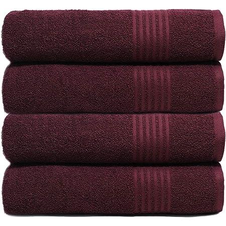 TRIDENT TRISAFE - Toallas de baño, supersuaves, ricas en algodón, Altamente absorbentes, de Secado rápido, fácil Cuidado, 4 Piezas, Toalla de baño, Fig San