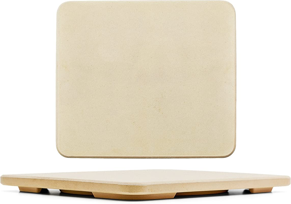 1 Pizza Stone Baking Stone SOLIDO Rectangular 14 X16 Perfect For Oven BBQ And Grill