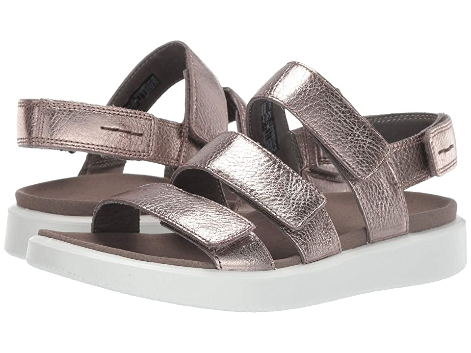 UPC 809704940717 product image for ECCO Flowt 3 Strap Sandal (Warm Grey Metallic Cow Leather) Women's Sandals | upcitemdb.com