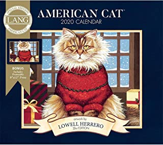 2020 American Cat Special Edition Wall Calendar, by Lang Companies