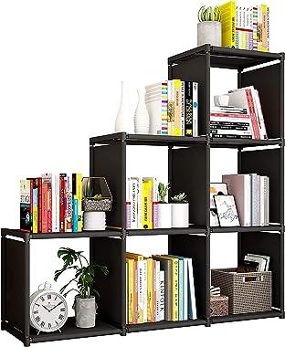 Estantería organizadora de almacenamiento para libros, 6 cubos, estantería de almacenamiento para armario, para sala de estar