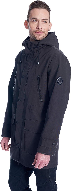 Alpine North Men's Raincoat | Weather Resistant Jacket with Drawstring Hood | XL, Pewter