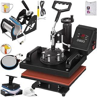VEVOR Heat Press 12X10 Inch Heat Press Machine 5 in 1 Digital Transfer Sublimation Heat Press Machine for T-Shirt Mug Hat Mug Cap Plate