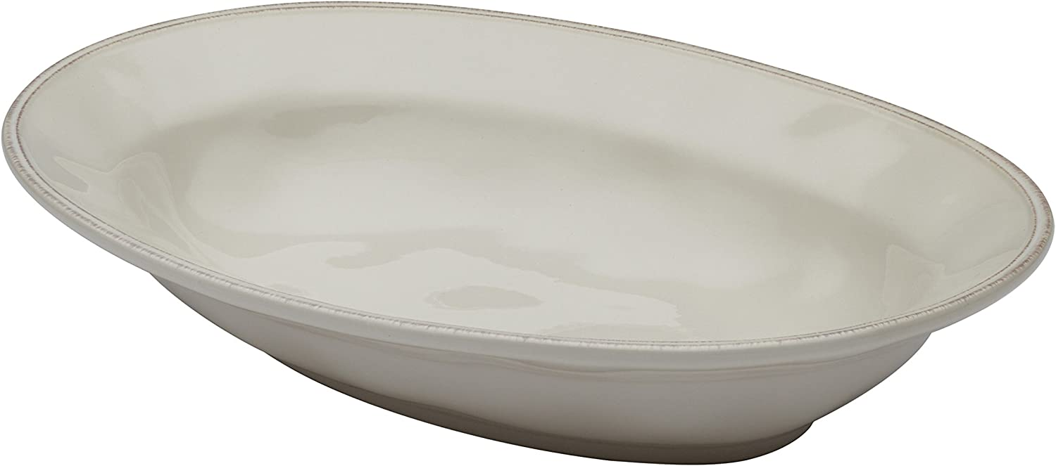 Same day shipping Rachael Ray Cucina Dinnerware 12-Inch Bow Stoneware Oval Serving Boston Mall