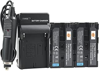 DSTE Replacement for 2X NP-F970 Battery + DC01 Travel and Car Charger Adapter Compatible Sony DCM-M1 MVC-CD1000 HDR-FX1 DCR-VX2100E DSR-PD190P NEX-FS700RH HXR-NX3 as NP-F930 NP-F950 NP-F960