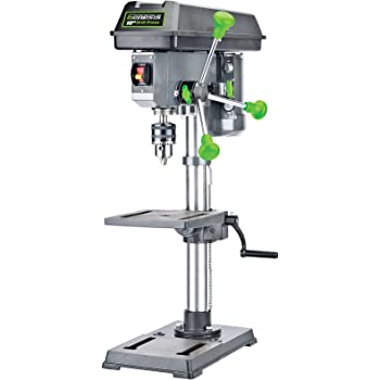 """Genesis GDP1005A 10"""" 5-Speed 4.1 Amp Drill Press with 5/8"""" Chuck, Integrated LED Work Light, and Table that Rotates 360° and Tilts 0-45°"""
