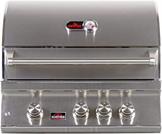Bonfire 28-inch-3 burners propane built-in gas grill with infrared rotisserie, led lights and cover (CBB3 LP)
