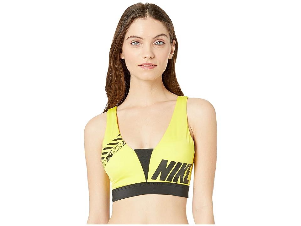Nike Sport Distort Indy Plunge Bra (Opti Yellow/Black) Women
