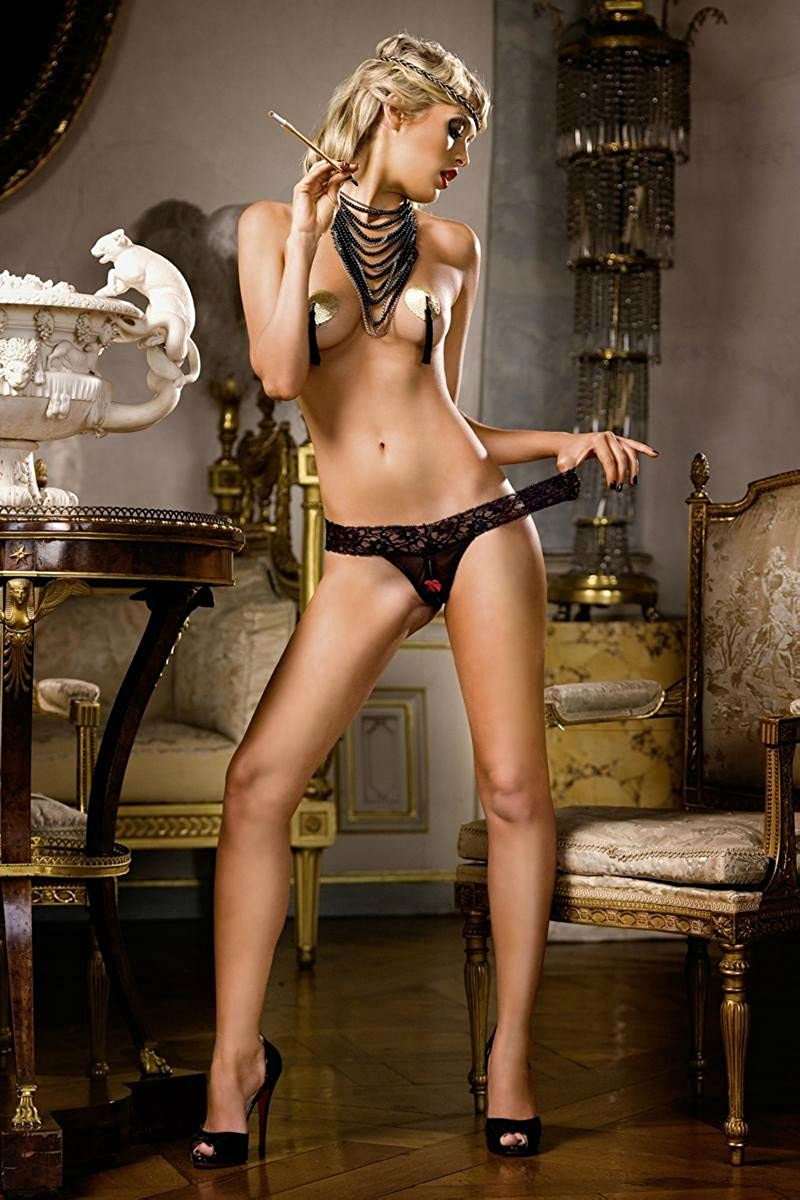 Baci Lingerie Womens Criminal Minds Crothchless Panty