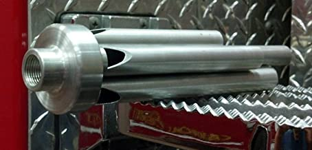 Threaded Base Steam Train Whistle 5 Chime Aluminum