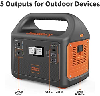 Jackery Portable Power Station Explorer 160, 167Wh Lithium Battery Solar Generator (Solar Panel Optional) Backup Powe...