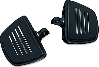 Kuryakyn 7578 Motorcycle Foot Control Component: Premium Mini Board Floorboards with Male Mount Adapters, Gloss Black, 1 Pair