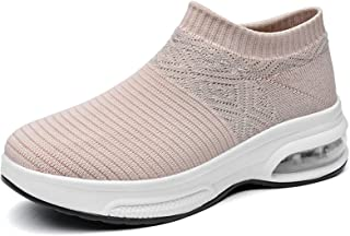 Clenp Baskets, Femmes Chaussures De Marche Baskets Chaussettes Slip on Air Cushion Platform Tennis Tennis