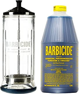 King Research Barbicide Disinfecting Jar Large 37oz + Disinfectant 64oz