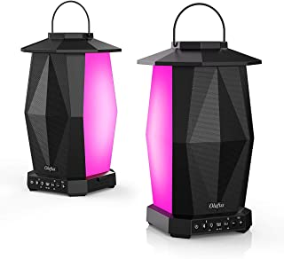 Olafus Outdoor Bluetooth Speakers, 2 Pack 25W Wireless Pairing Speakers, Up to 200 Speakers Synch, IPX5 Waterproof Lantern Speakers with LED Mood Lights, for Indoor, Party, Halloween, 20H Playtime