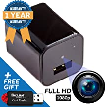Spy Cam Hidden Security Camera - Ideal Nanny Cam, Disguised USB Phone Charger for Stealth Home Surveillance - Motion Detector, Low-Light, 1080p HD Video - Easy Manual