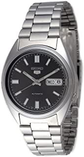 Seiko Mens Analogue Automatic Watch with Stainless Steel Strap SNXS79K1