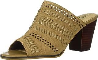 Women's Koraline Slide Sandal on Block Heel Shoe, Desert Suede Leather, 7 W US