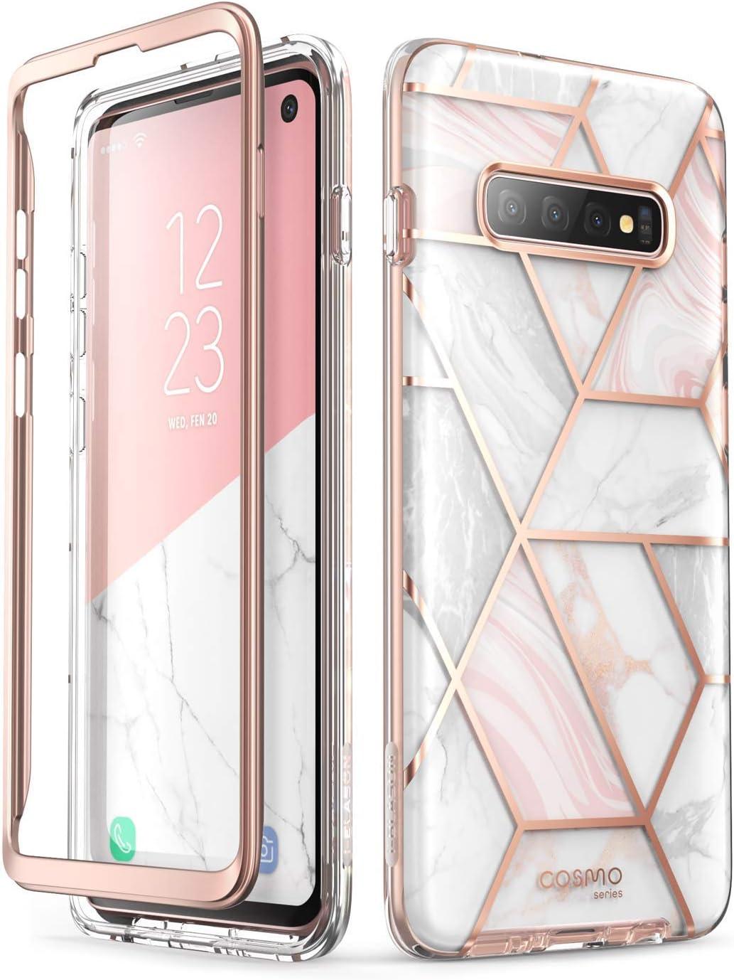 i-Blason Funda Galaxy S10 Plus [Cosmo] Antigolpes Carcasa sin el protectro de Pantalla Incorporado Compatible con Samsung Galaxy S10 Plus 2019 (Mármol)