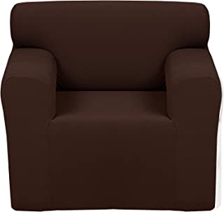 Chiara Rose Couch Covers for Dogs Sofa Cushion Slipcover 1 Seater Furniture Protectors, Armchair, Brown