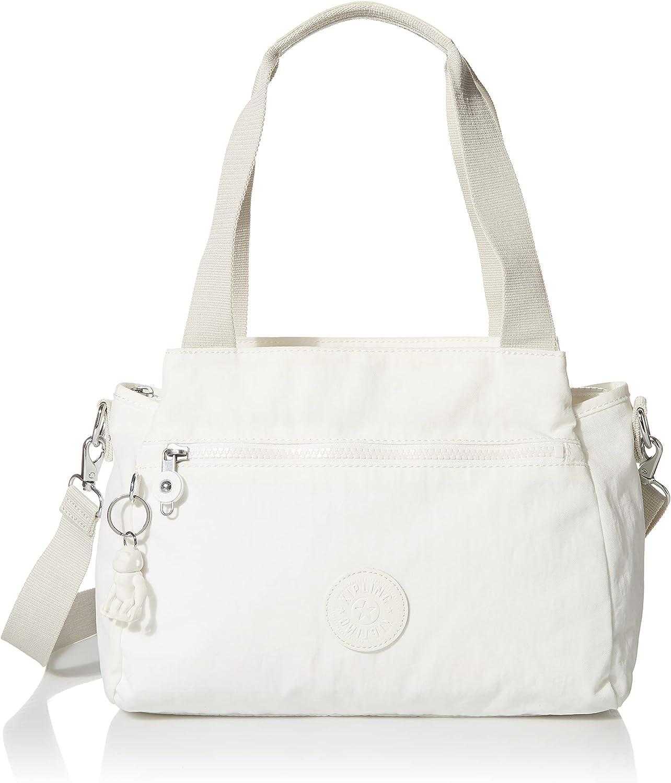Kipling Women's Elysia Crossbody, Lightweight, Multi-Compartment Magnetic Snap Pockets, Nylon Shoulder Bag