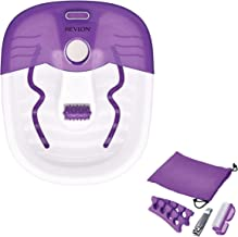 Revlon Foot Spa/Pedicure Spa with Soothing Vibration Massage, Purple, Foot Massages at Home!