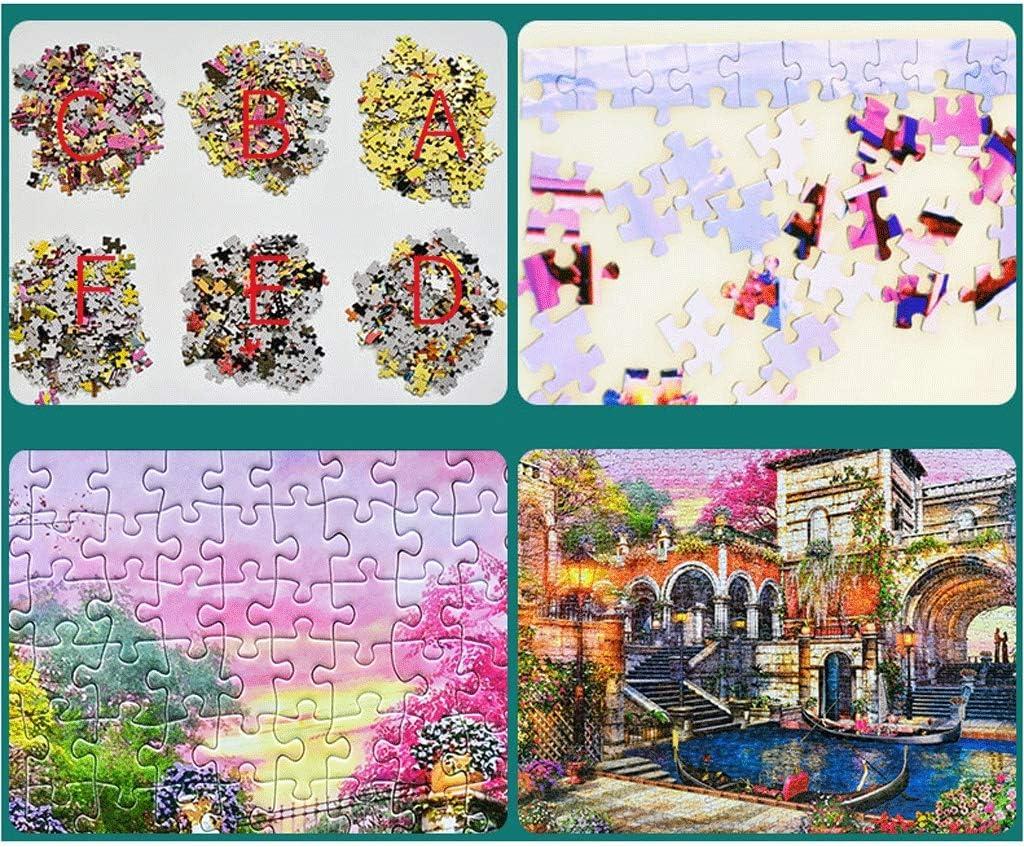 Puzzel Adult Puzzel 1000 Pieces Of Landscape Paintings Super Moeilijk Creative Decompression Meisje van de pret Gift kinderen educatief speelgoed (Color : J) M